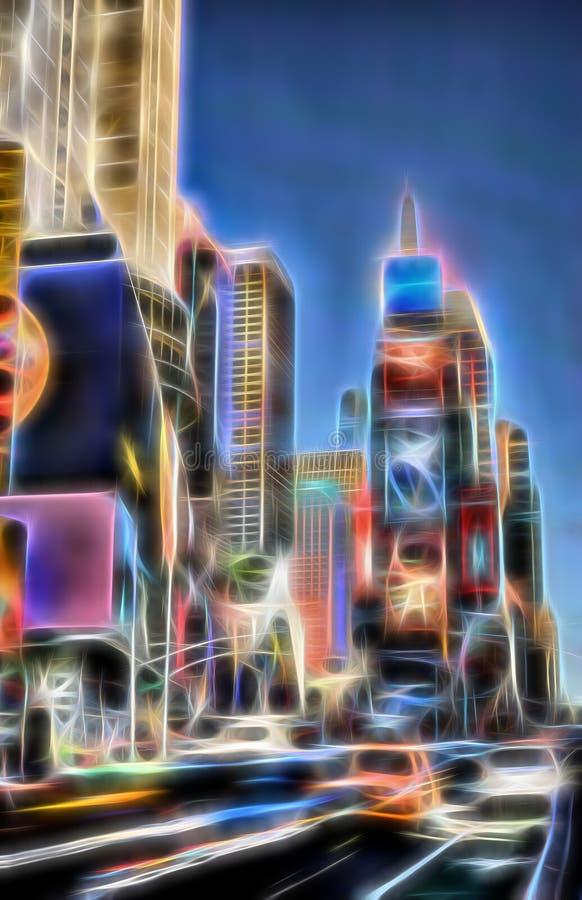 nya fyrkantiga tider york f?r stad royaltyfri illustrationer