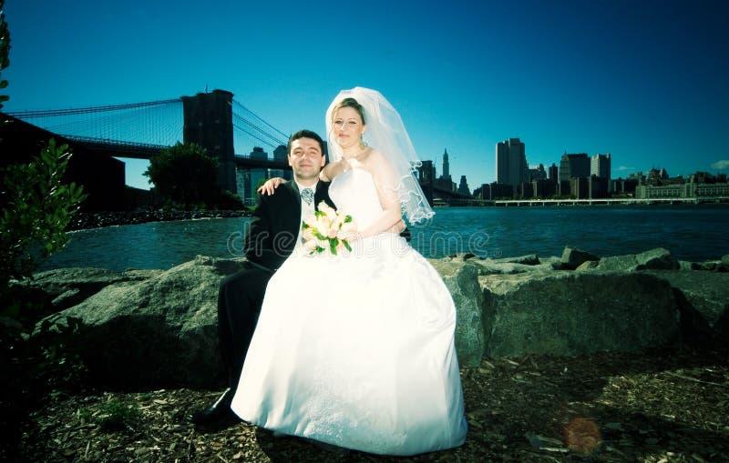 nya gifta sig york arkivfoton