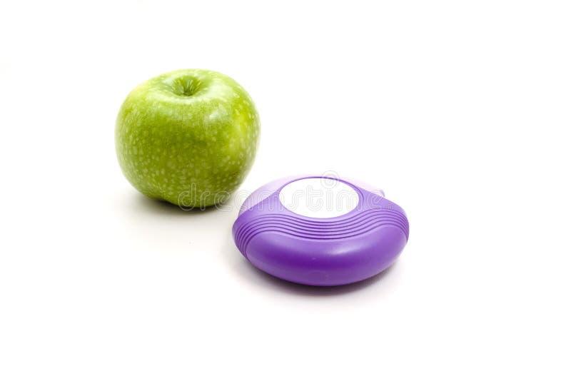 Nya gröna Apple med inhaleren arkivfoton