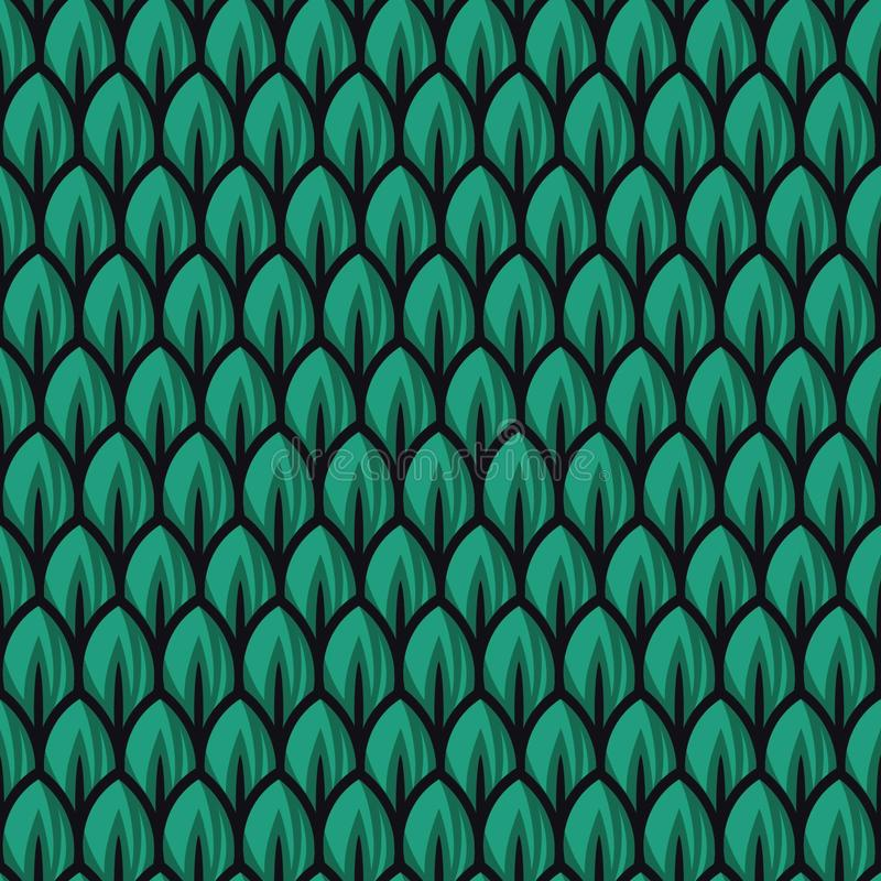 Nya gröna bladmodellillustrationer royaltyfri illustrationer