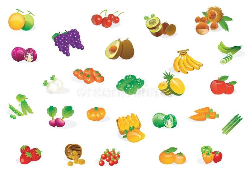 nya grönsaker stock illustrationer
