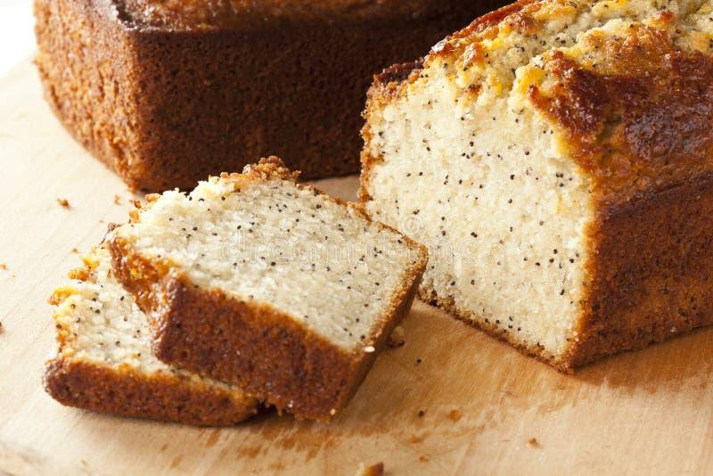 Nya hemlagade Poppy Seed Bread arkivfoton
