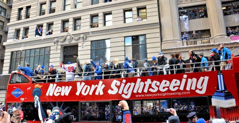 nya jättar ståtar segern york royaltyfri foto