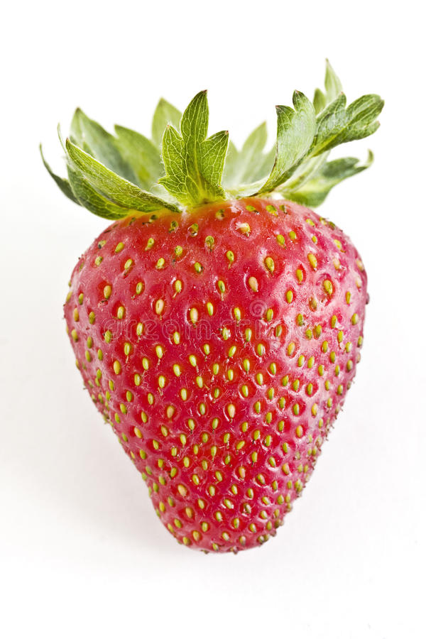 nya jordgubbar för closeup arkivfoton