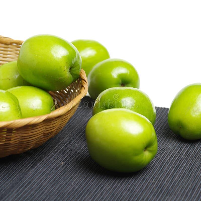 nya jujubes Det kallade också den kinesiska gröna jujuben, det produceras i Kina Taiwan royaltyfri bild