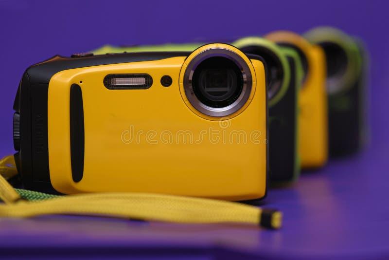 Nya kameror ställde upp trevligt royaltyfria foton