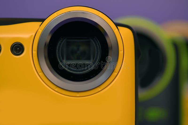 nya kameror ställde upp trevligt royaltyfria bilder
