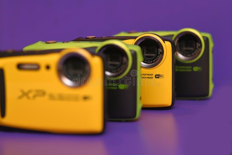 nya kameror ställde upp trevligt arkivbild