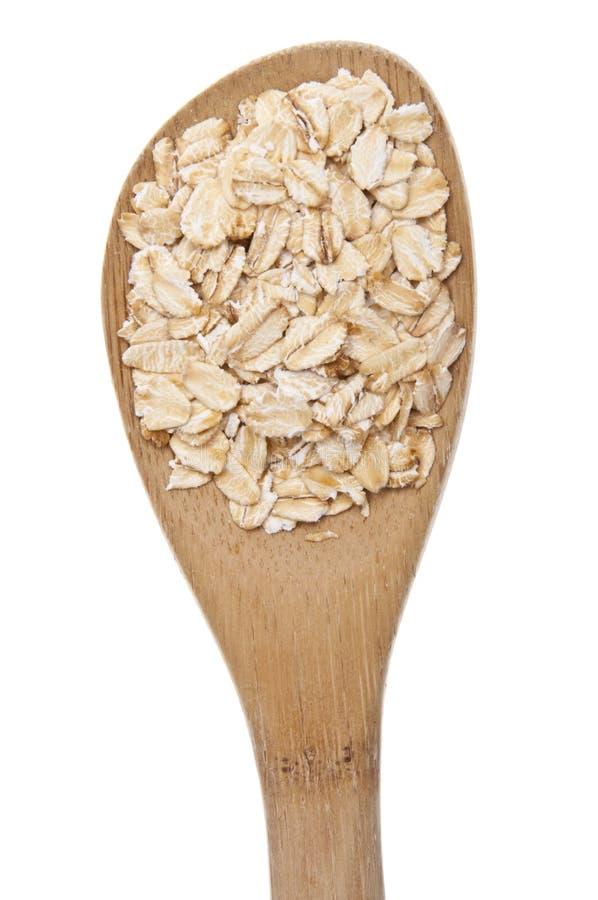 nya kornoats skedar helt trä royaltyfria bilder