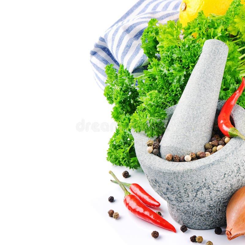 Nya matlagningingredienser arkivfoton