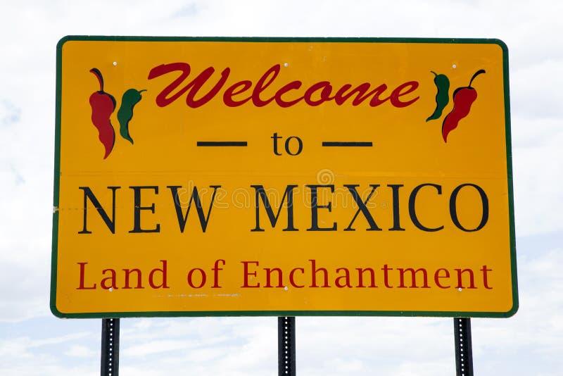 nya mexico att välkomna royaltyfria bilder