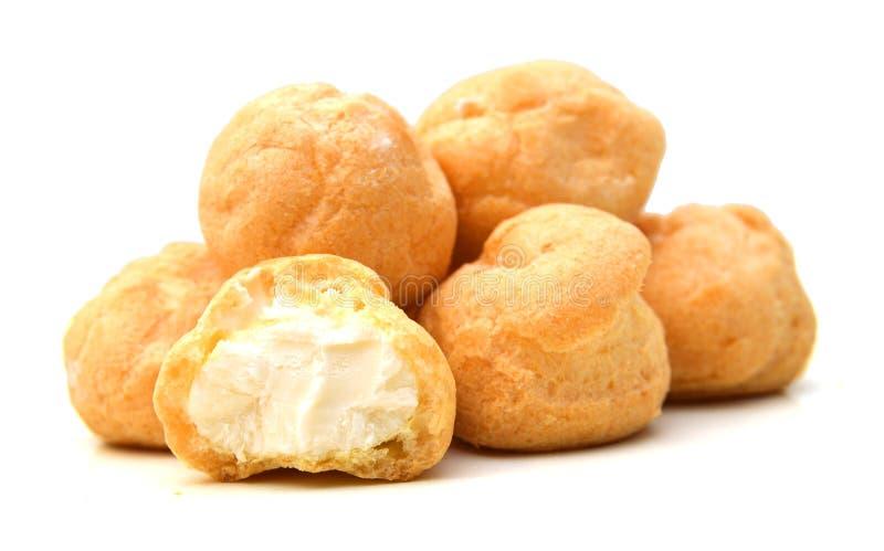 Nya Mini Cream Puffs royaltyfri bild