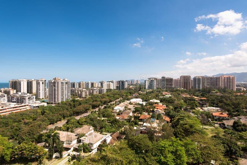 Nya moderna andelshusar i Rio de Janeiro royaltyfria foton