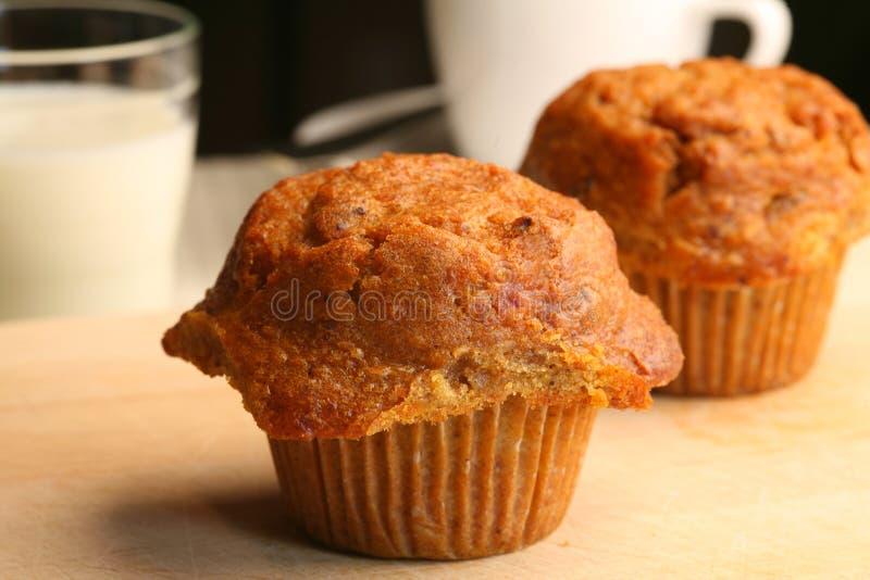 nya muffiner för morot royaltyfri bild