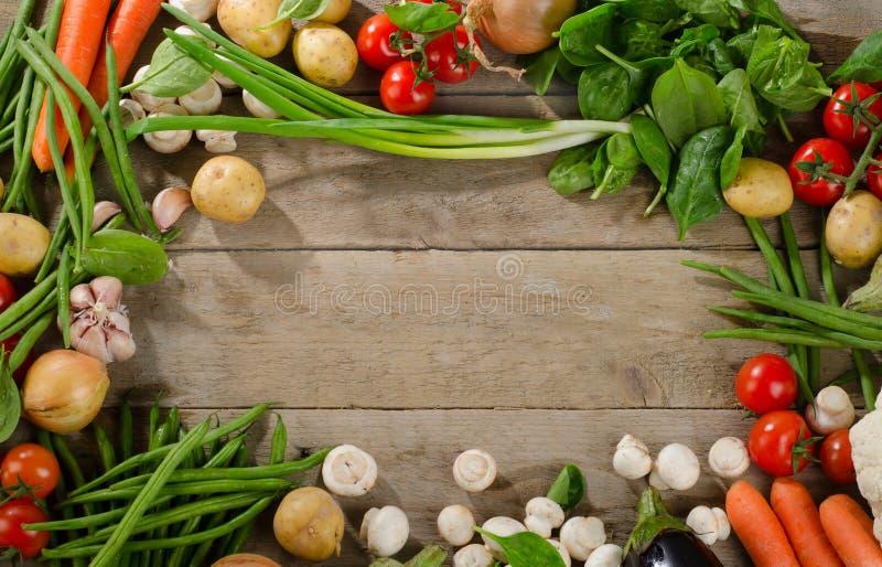 Nya organiska grönsaker sund begreppsmat arkivfoton