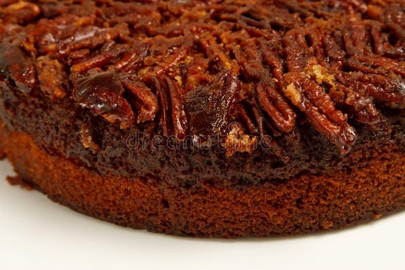 nya pecannötpecannötter för cake fotografering för bildbyråer