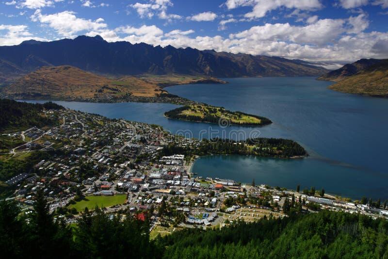 Nya Queenstown Zealand Royaltyfri Fotografi