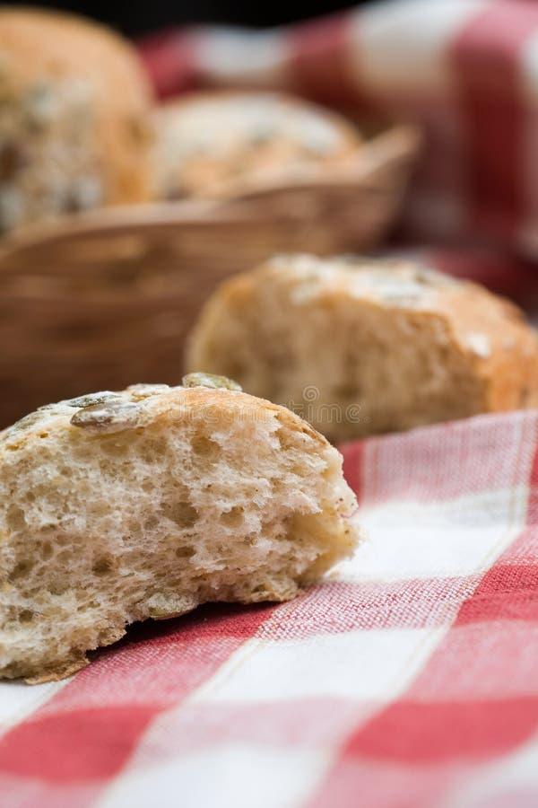 nya rullar för bröd arkivbilder