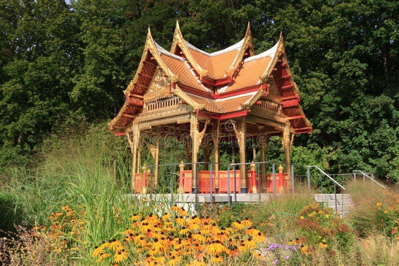 Nya Sala Thai Pavillion i sommaren royaltyfri bild