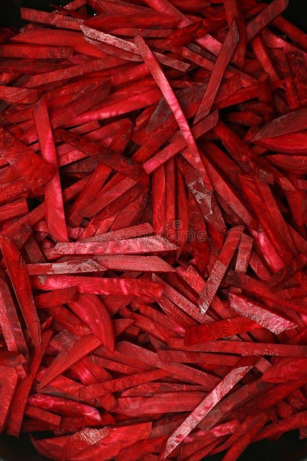 nya skivor för rödbeta royaltyfria foton