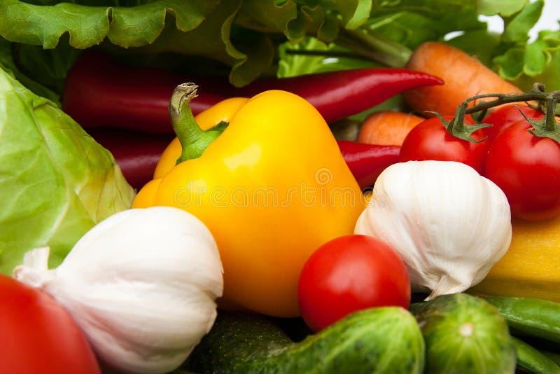 Nya smakliga grönsaker. Bakgrund och textur. royaltyfria bilder