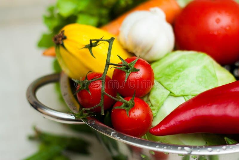 Nya smakliga grönsaker. Matingredienser. arkivfoto