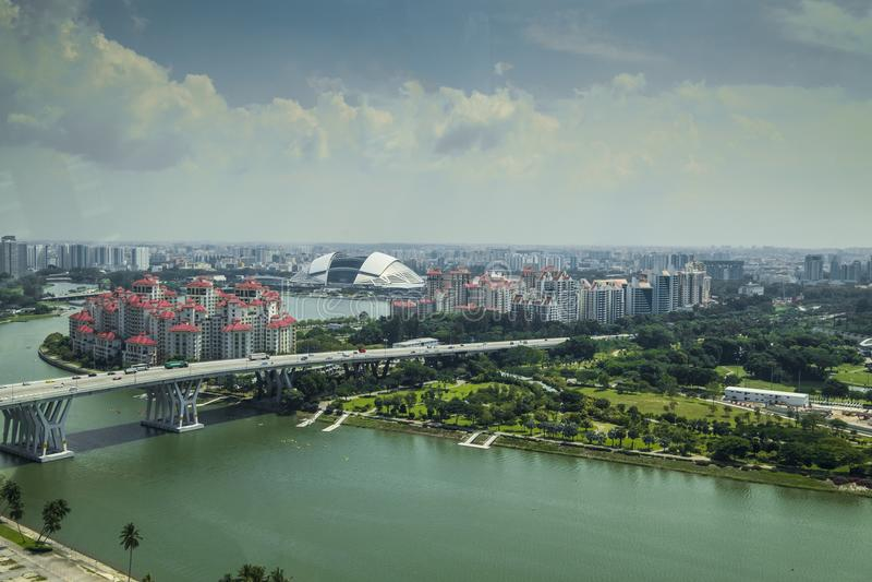 Nya stads- sikter i Singapore arkivfoto