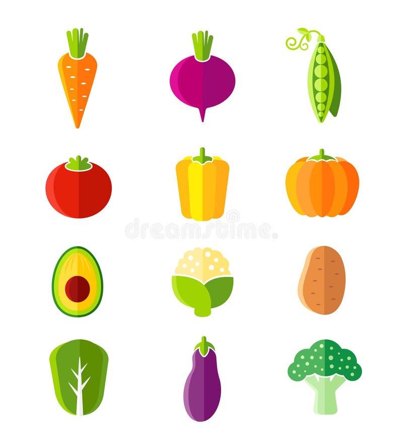 Nya sunda grönsaker sänker organiska symboler för stil vektor illustrationer