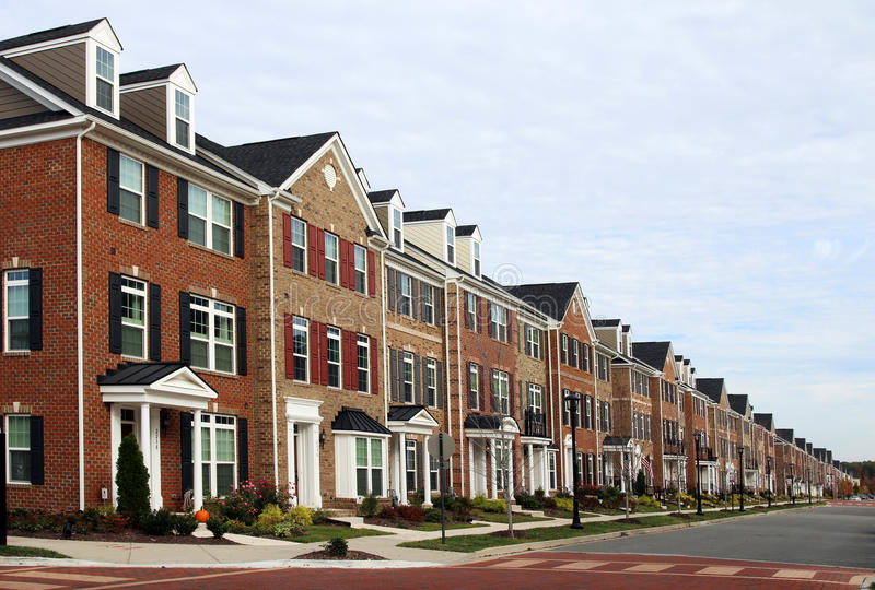 nya townhouses royaltyfri foto