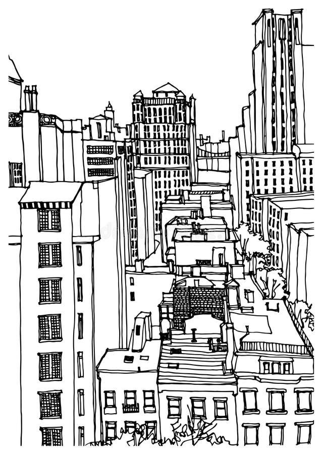 nya USA york stock illustrationer