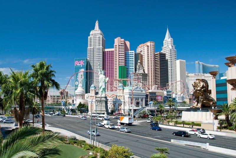 Nya York-nya York på den Las Vegas remsan i Nevada arkivbild