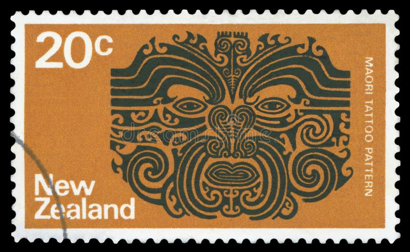 NYA ZEELAND - Portostämpel stock illustrationer