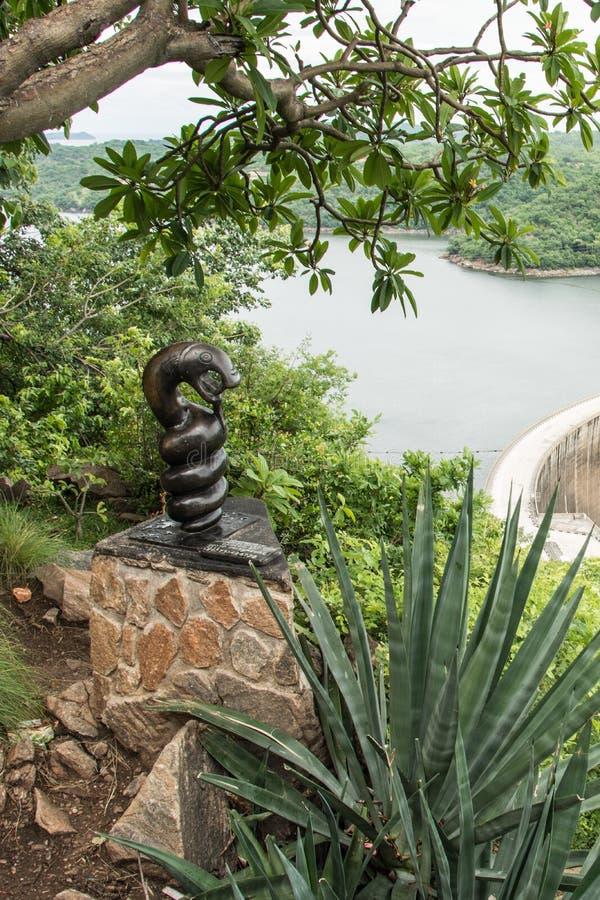 Nyaminyami, Zambezi Riviergod stock foto