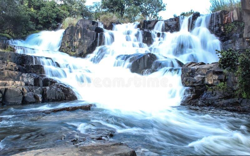 Nyangombe秋天,尼扬加,津巴布韦 免版税库存照片