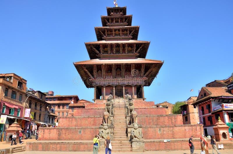 Nyatapola świątynia przy Bhaktapur Durbar kwadratem obraz stock