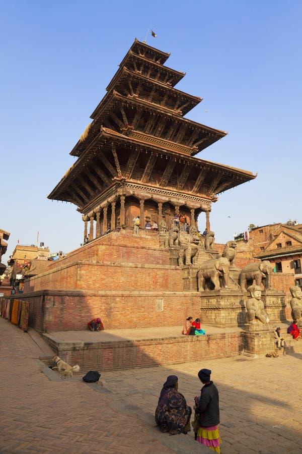 Nyatapola Temple, Bhaktapur Durbar Square, Nepal stock images