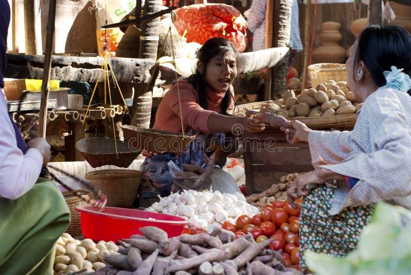 nyaung u myanmar рынка стоковая фотография