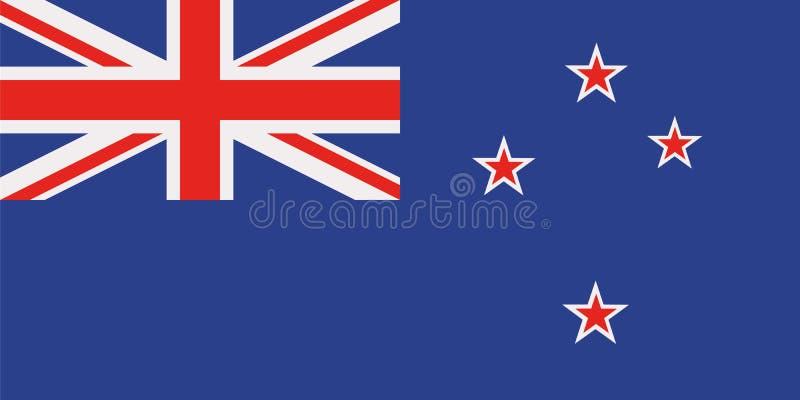 Nyazeeländsk flagga stock illustrationer