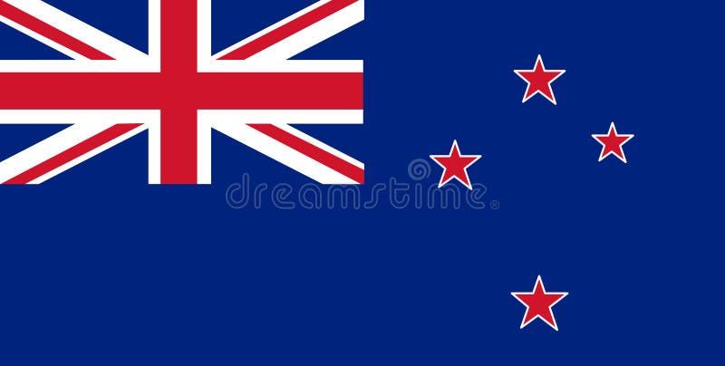 Nyazeeländsk flaggavektor Illustration av den nyazeeländska flaggan vektor illustrationer