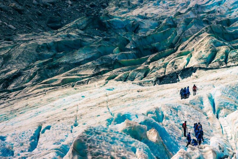 Nyazeeländsk glaciär arkivfoton