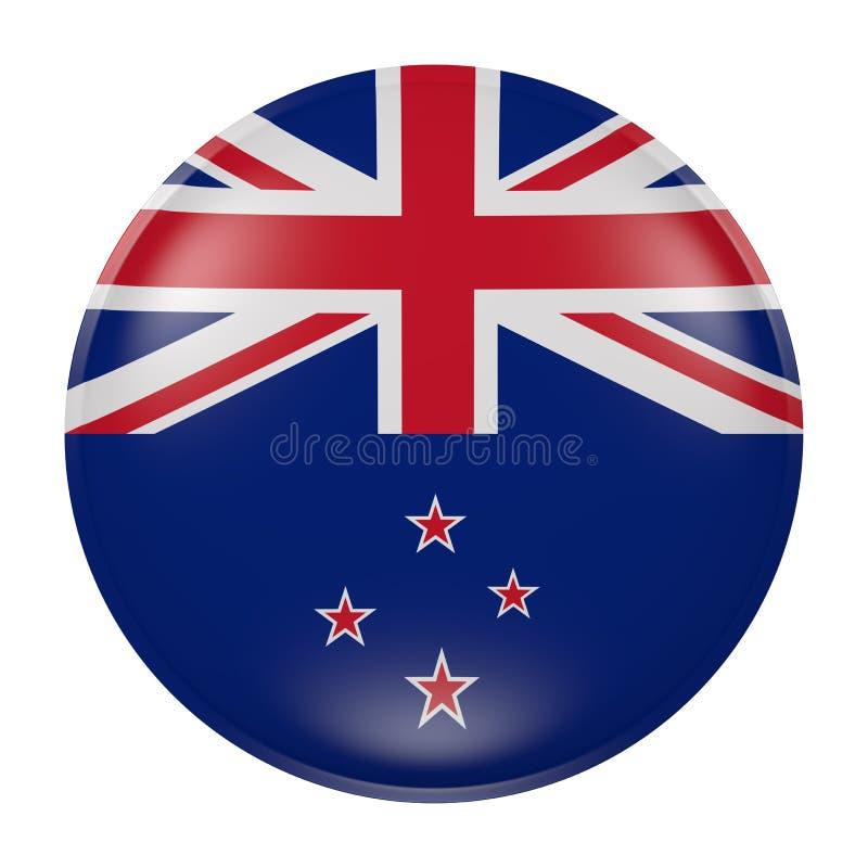 Nyazeeländsk knapp på vit bakgrund vektor illustrationer