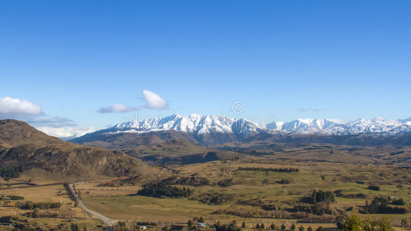 Nyazeeländsk panorama royaltyfri foto