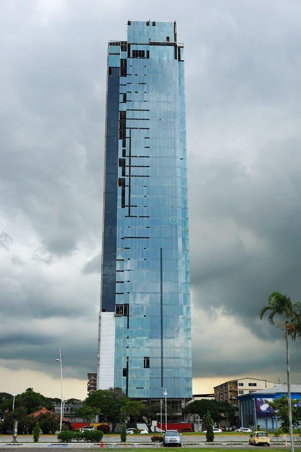 Nybygge i konstruktion i Panama City fotografering för bildbyråer