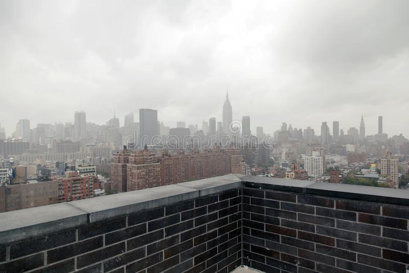 NYC地平线看法从大阳台的 免版税库存图片