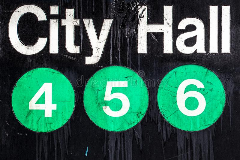 NYC地铁标志 免版税库存图片