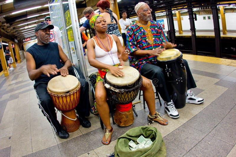 NYC地铁音乐家 免版税库存图片