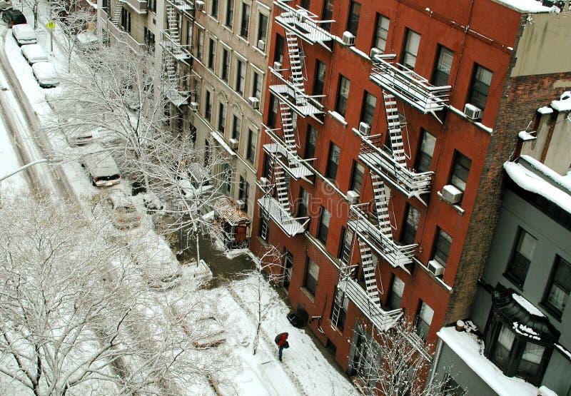 nyc场面西方小巷的较大 库存图片