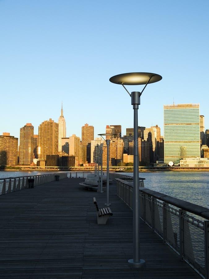 NYC日出 免版税库存照片