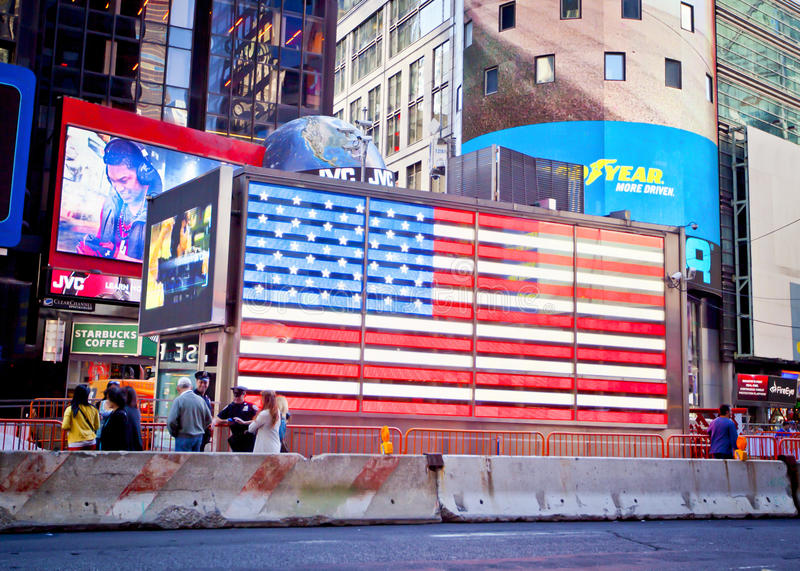 NYC时代广场旗子 库存图片