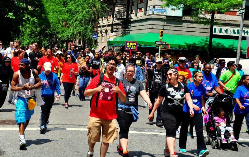 NYC: Περίπατος 2014 του AIDS στοκ φωτογραφία με δικαίωμα ελεύθερης χρήσης